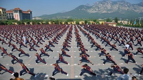 To start training Shaolin Kung fu in Dengfeng 2